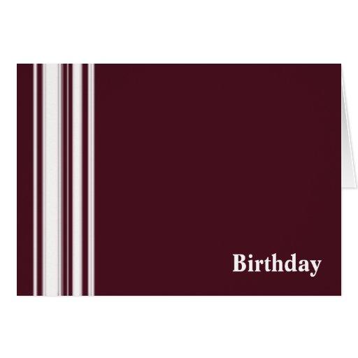 El marrón raya la tarjeta de cumpleaños