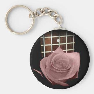 El marrón rosado teñió el traste color de rosa del llaveros personalizados