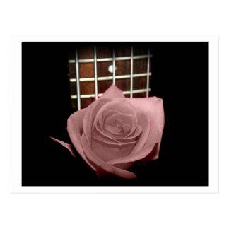 El marrón rosado teñió el traste color de rosa del postales