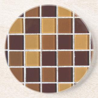 el marrón teja el mosaico posavasos manualidades