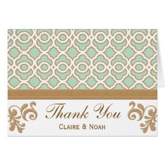 El marroquí del oro de verde menta le agradece inv felicitación