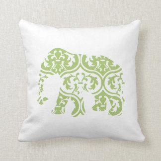 El marroquí verde deja el elefante cojín