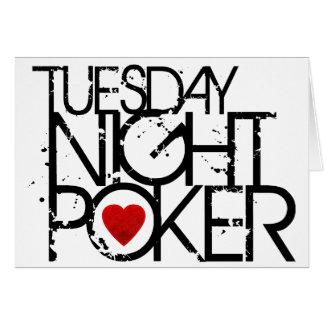 El martes por la noche póker felicitaciones