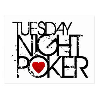 El martes por la noche póker tarjeta postal