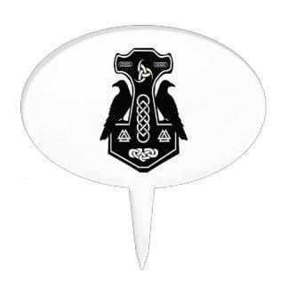 El martillo del Thor céltico pagano de los Figura De Tarta
