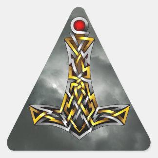 El martillo del Thor Pegatina Triangular