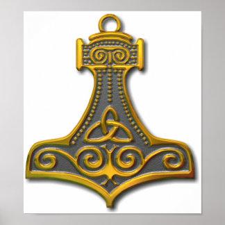 El Martillo-oro del Thor Impresiones