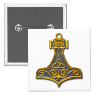 El Martillo-oro del Thor Pin Cuadrado