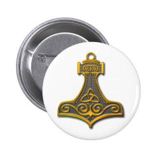 El Martillo-oro del Thor Pin Redondo De 2 Pulgadas