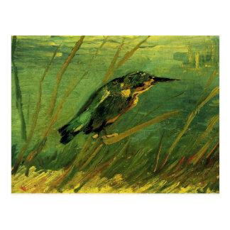 El martín pescador, bella arte de Van Gogh Tarjetas Postales