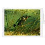 El martín pescador, bella arte de Vincent van Gogh Tarjeta De Felicitación