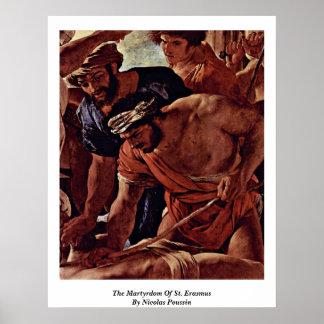 El martirio de Erasmus del St. de Nicolás Poussin Impresiones