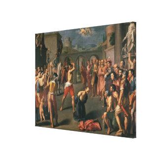 El martirio de San Pablo Impresión En Lona