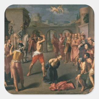El martirio de San Pablo Pegatina Cuadrada