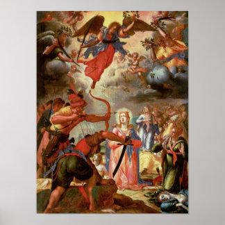 El martirio de Santa Ursula, comienzo del siglo XV Impresiones