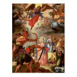El martirio de Santa Ursula, comienzo del siglo XV Postal