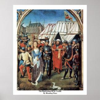 El martirio de Santa Ursula de Memling Hans Impresiones