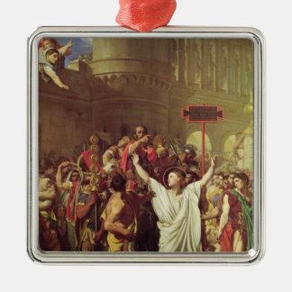 El martirio de St. Symphorien, 1834 Adorno Navideño Cuadrado De Metal