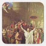 El martirio de St. Symphorien, 1834 Calcomanía Cuadradase