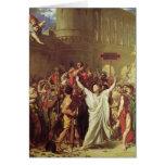 El martirio de St. Symphorien, 1834 Tarjeton