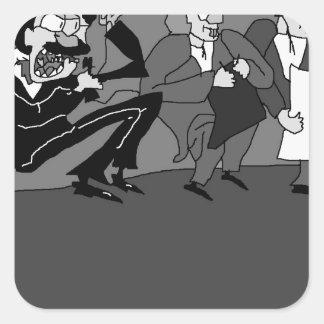 El Marx Brothers.jpg Pegatina Cuadrada