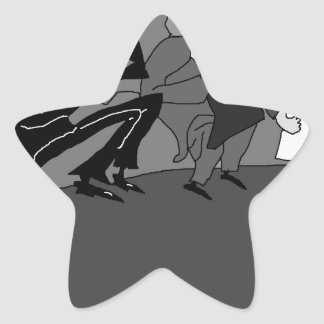El Marx Brothers.jpg Pegatina En Forma De Estrella