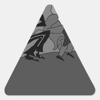El Marx Brothers.jpg Pegatina Triangular