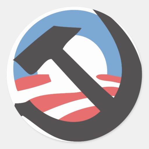 El marxismo de Obama Pegatinas