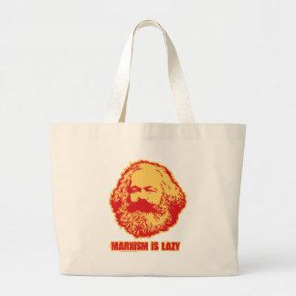 El marxismo es perezoso bolsa tela grande