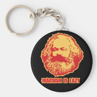 El marxismo es perezoso llavero redondo tipo pin