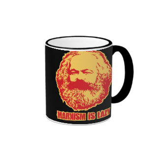 El marxismo es perezoso taza de dos colores
