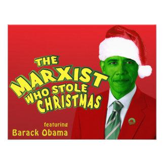 El marxista que robó navidad invitacion personalizada