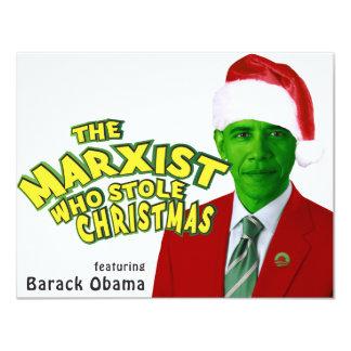 """El marxista que robó navidad invitación 4.25"""" x 5.5"""""""