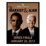 El marxista y la impresión del arte del mentiroso posters