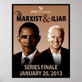 El marxista y la impresión del arte del mentiroso póster