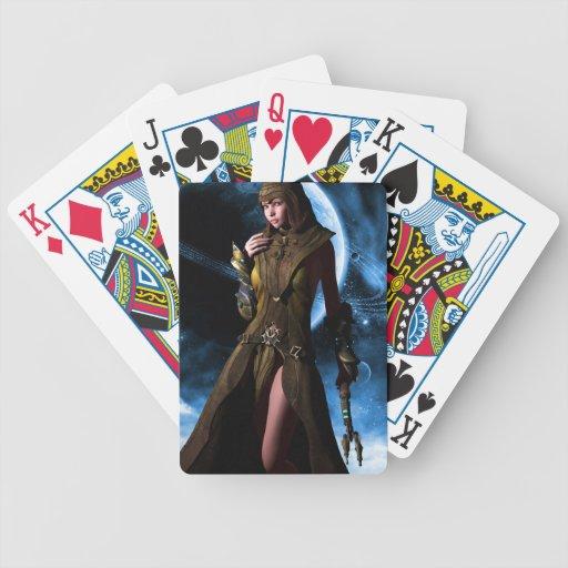El más allá hermoso baraja cartas de poker