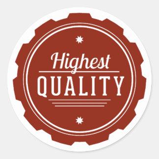 El más de alta calidad pegatina redonda