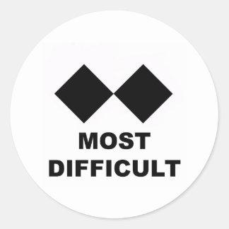 El más difícil pegatina redonda