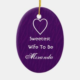 El más dulce Esposa-A-Es el artículo púrpura del Ornamentos De Reyes