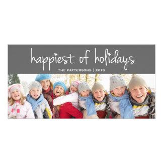 El más feliz del navidad de los días de fiesta que tarjetas fotograficas
