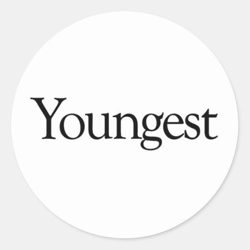 El más joven pegatina redonda