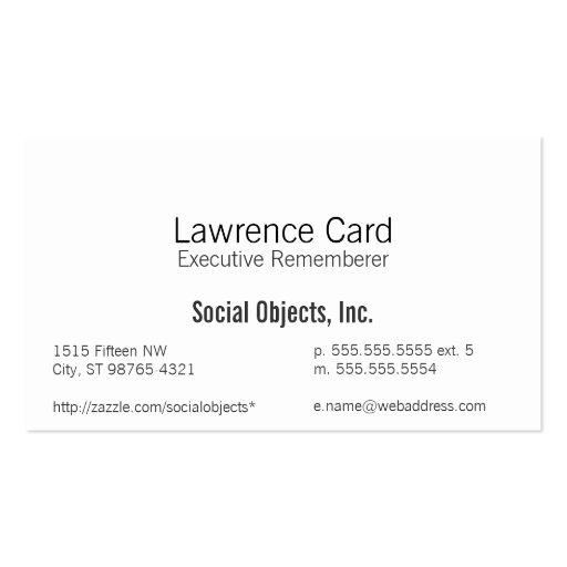 El más simple sin plantilla gótica tarjetas de visita
