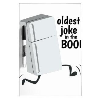 El más viejo chiste en el libro pizarras blancas