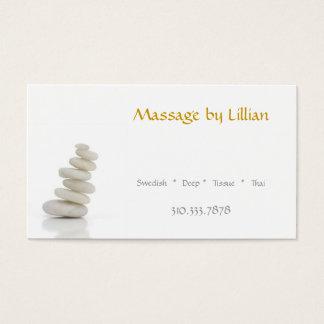 El masaje empiedra II Tarjetas De Visita