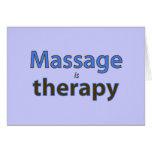 El masaje es terapia tarjeton