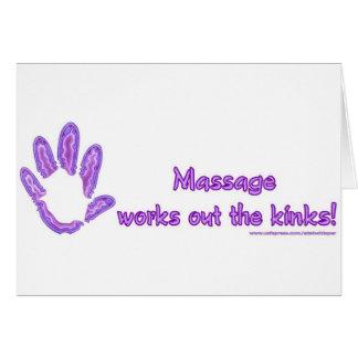 El masaje resuelve las torceduras felicitación