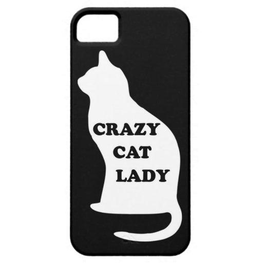 El mascota animal felino de la señora loca del funda para iPhone 5 barely there