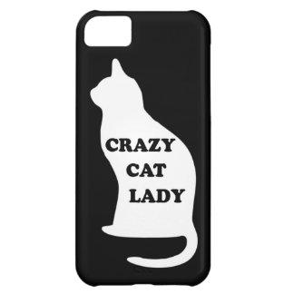 El mascota animal felino de la señora loca del gat funda para iPhone 5C