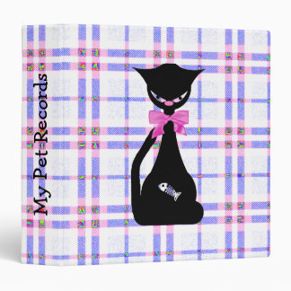 El mascota del gato negro registra la carpeta