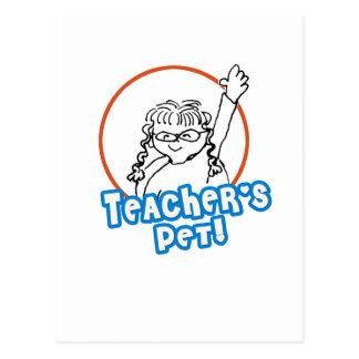 El mascota del profesor del chica postal